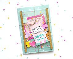 Con un poco de Washi...: Buzón Craft: Ronda Confetti (segunda parte)