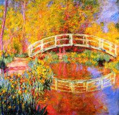 """The Japanese Bridge at Giverny"" - Claude Monet"