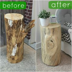 Fun with the Fullwoods: DIY: Tree Trunk Table