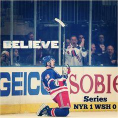 6be26b940 Chris Kreider celebrates his game-winning goal in Game 1 vs. the Capitals  Rangers