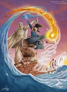 Avatar Ang, Avatar Fan Art, Avatar Legend Of Aang, The Last Avatar, Korra Avatar, Avatar The Last Airbender Art, Team Avatar, Legend Of Korra, Avatar Poster