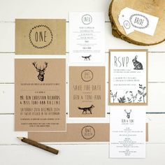 enchanted forest wedding invitation by russet and gray | notonthehighstreet.com
