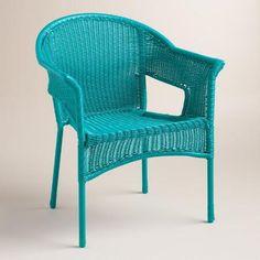 Capri Blue All Weather Wicker Tub Chair | World Market