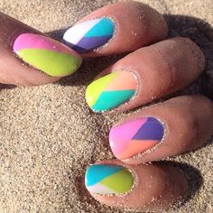 Spring/Summer 2014 nail inspo by nicolette4beauty. Tag yours with #SephoraNailspotting for the chance to be featured! #Sephora #nails #nailpolish