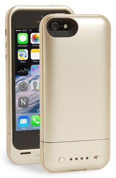 Gold Mophie iPhone Recharging Case #giftsforher