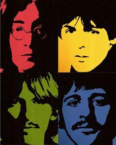 The Beatles - pop art Beatles Poster, Les Beatles, Beatles Art, Beatles Photos, Pop Rock, Rock And Roll, Rock Internacional, Rock Poster, Pop Art Portraits