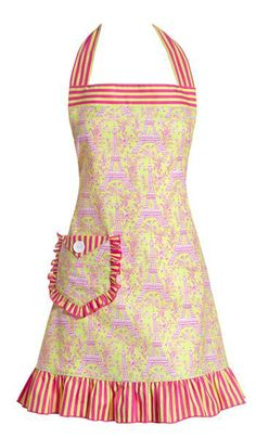 J'aime Paris Cafe Pink Apron