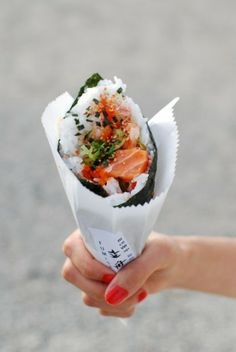 you are what you eat...Hand Rolled Sushi..Yes.