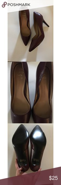 "Banana Republic Damsel D'Orsay Heel Banana Republic Damsel D'Orsay Heel // Size 10, Oxblood. Gorgeous leather heels. 3.75"" heel. Banana Republic Shoes Heels"