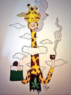You can get high smoking like this giraffe or change to edible marijuana! Make your own delicious Dragon Teeth mints or Cannabis chocolates; small candies you can take and use anytime, any place! MARIJUANA - Guide to Buying, Growing, Harvesting, and Making Medical Marijuana Oil and Delicious Candies to Treat Pain and Ailments by Mary Bendis, Second Edition. Just $2.99 for great e-book! www.muzzymemo.com