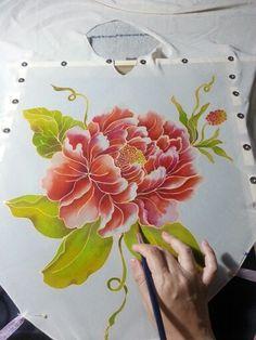 #peony #silkpaint #flowers #handmade #silkpainting