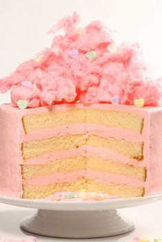 cotton candy layer cake