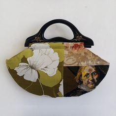 ZStitch, Vintage inspired handmade handbags in Woodstock Retro Fabric, Handmade Handbags, Fabric Bags, Woodstock, Vintage Inspired, Reusable Tote Bags, Range, Inspiration, Handmade Bags