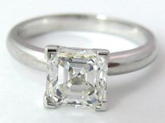 2 Carat Asscher Cut Diamond Ring