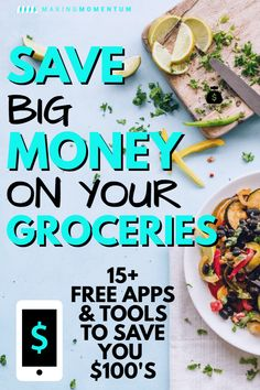 Want to manage your food costs? Check out this collection of the best apps that save money groceries. Cut your grocery bill with these great free tools. Money Saving Meals, Save Money On Groceries, Frugal Living Tips, Frugal Tips, Save On Foods, Budget Planer, Money Saving Challenge, Budgeting Money, Best Apps