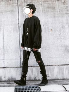 d│Coordinate with Sweatshirt zZz Sweatshirt - 『Ulzzang boy Outfits』 - Kpop Outfits, Edgy Outfits, Korean Outfits, Cute Outfits, Fashion Outfits, Korean Fashion Men, Asian Fashion, Mens Fashion, Tomboy Fashion