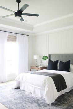 Crazy Wonderful: bedroom ceiling fan, Home Decorator's Collection Merwry fan, matte black