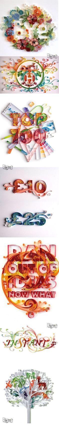Amazing rolling paper art decoration!