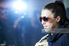 UFC's fighter Joanna Jedrzejczyk answers for questions during press briefing while her homecoming on Chopin's Airport on November 20, 2015 in Warsaw, Poland.