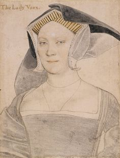 Elizabeth, Lady Vaux By Hans Holbein the Younger, c.1536