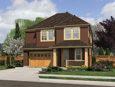 Traditional House Plan with 1875 Square Feet and 4 Bedrooms from Dream Home Source   House Plan Code DHSW076514