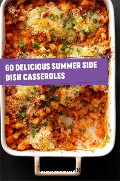 Think beyond salads and grilled veggies: these delicious casseroles make superb summer side dishes! Use your summer vegetables and make an outstanding side for your next big meal. Summer Side Dishes, Grilled Veggies, Big Meals, Casserole Recipes, Casseroles, Crockpot, Salads, Vegetables, Crock Pot Recipes