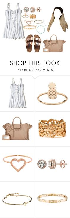"""""""Therapy"""" by moonlightbabby ❤ liked on Polyvore featuring Hollister Co., LC Lauren Conrad, Balenciaga, Birkenstock, Forever 21, Jennifer Meyer Jewelry, Diamond Splendor, ASOS, Cartier and Lola Rose"""