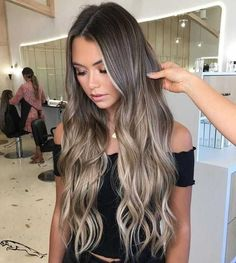 Brown Hair With Blonde Balayage, Dark Hair With Highlights, Blonde Hair Looks, Hair Color Balayage, Brunette Hair, Ash Blonde Highlights On Dark Hair, Haircolor, Brown Hair Colors, Hair Inspiration