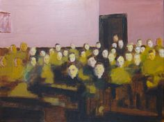 """Saatchi Online Artist: David Storey; Oil, Painting """"The Class""""  Appeals to the teacher in me - needs a greater variety of complexions, however."""