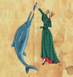 Mary Anning and her Ichthyosaur by Pelycosaur24 on DeviantArt