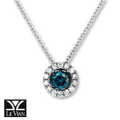 My something blue at my wedding...please!!!!! Blueberry Diamond 1/4 ct tw Necklace 14K Vanilla Gold™
