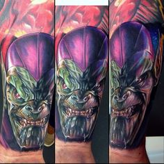 Super Skrull by Gabriele Dell'otto really fun piece but super weird angle hope it makes sense. #marvel #comics #comicbook #skrull #fantasticfour #cecilporter #color #realism #tattoos #realistic #color #tattoo #art #ink #inked #artist #portland #pdx #emporium1476 #igers #instagood #instafamous @fusion_ink @inkmachines_christian @blkpowder