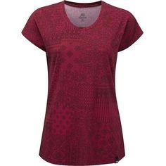 Sherpa Women's Samaya SS Tee ($50) ❤ liked on Polyvore featuring tops, t-shirts, tika pink, crewneck t shirt, pink t shirt, crew t shirts, crew neck t shirt and short sleeve crew neck t shirt
