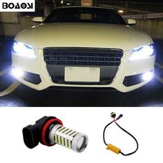 BOAOSI 1x Super White H8 H11 CREE Chip 2835 LED Fog Light Driving Bulbs No Error for Audi A3 A4 A5 S5 A6 Q5 Q7 TT