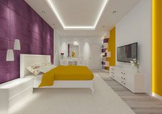 Bedroom #bedroom #modern #color