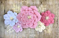 Paper Flowers Paper Flower Wall Decor Nursery Wall Decor