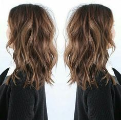 Love this style & length for growing out hair.