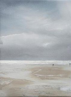Beach Life180215 Original Oil and Acrylic on Canvas 38cm x 28cm