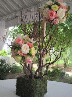 manzanita centerpiece medium by gardeniafloral on Etsy, $95.00