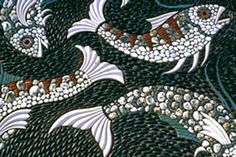 Maggy Howarth - Cobblestone Designs - more fish, more ideas for our gazebo pathway design to the pond! Mosaic Stepping Stones, Pebble Mosaic, Stone Mosaic, Pebble Art, Mosaic Art, Mosaic Tiles, Mosaic Crafts, Mosaic Projects, Mosaic Designs