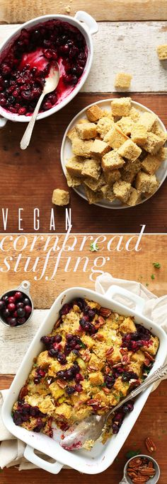 AMAZING Cornbread Stuffing with Cranberries and Pecans