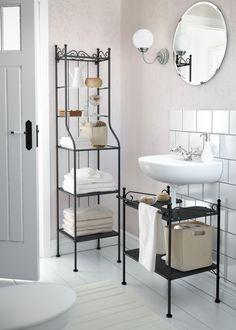 creative under sink storage ideas | sink shelf and wall mounted sink, Badkamer