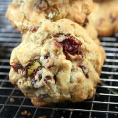 White Chocolate Cranberry Salted Pistachio Drop Cookies