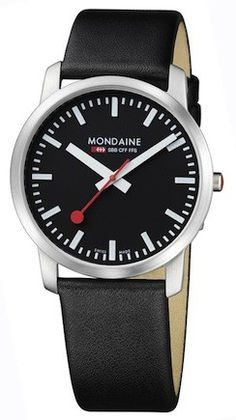 online shopping for Mondaine Men's Big Date Evo Leather Band Watch from top store. See new offer for Mondaine Men's Big Date Evo Leather Band Watch Movado Mens Watches, Seiko Watches, Watches For Men, Wrist Watches, Black Leather Watch, Leather Watch Bands, Elegant Watches, Stylish Watches, Textiles