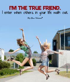 I'm the true friend - Friendship Picture Quote Friendship Day Wishes, Friend Friendship, Friendship Pictures Quotes, Photo Libre, True Friends, Dear Friend, Picture Quotes, Me Quotes, Joy