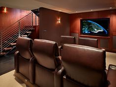With cherry-paneled walls, cushy king-sized recliner seats, and comfy carpets, you'll never have to wait in a ticket line to see your favorite film again!