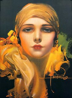 Rolf Armstrong - flower of the orient 1920s