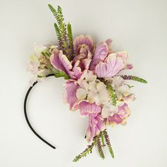 Floral Crown Fascinator in Pink Bridal Wedding Boho Headband Bridesmaid Accessory Bride Hair spring hat Races Ascot – Hair Accessories Diy 2020 Floral Fascinators, Floral Headdress, Floral Headbands, Floral Crowns, Fascinator Headband, Fascinator Hairstyles, Boho Headband, Hair Spring, Bridesmaid Headband