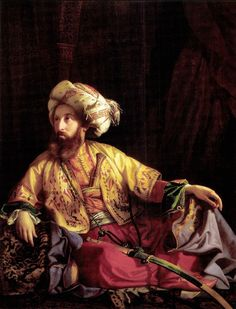 József Borsos, Der Emir vom Libanon (Porträt von Edmund Graf Zichy), Öl auf Leinwand 154 × 119 cm (© Szépművészeti Múzeum/ Museum of Fine Arts, Budapest, Foto: © Tibor Mester) Jean Leon, Empire Ottoman, Arabian Art, Greek Warrior, Google Art Project, Exotic Art, Oil Portrait, Portraits, Arabian Nights