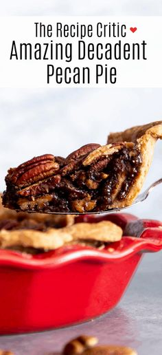Amazing Decadent Pecan Pie is a rich, chewy, nutty, sweet, traditional holiday staple. For many the holidays aren't the holidays without this brilliant dessert on the table. This homemade delight is surprisingly super simple. You are going to love it!